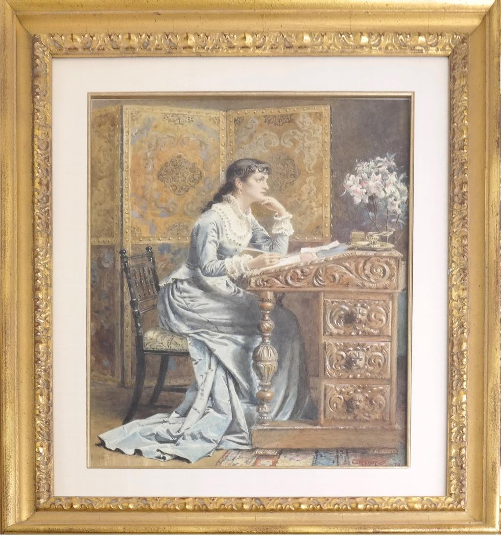 G. Kilburne, Writing The Letter - 2