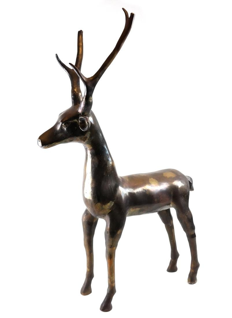 Brass Sculpture of a Buck