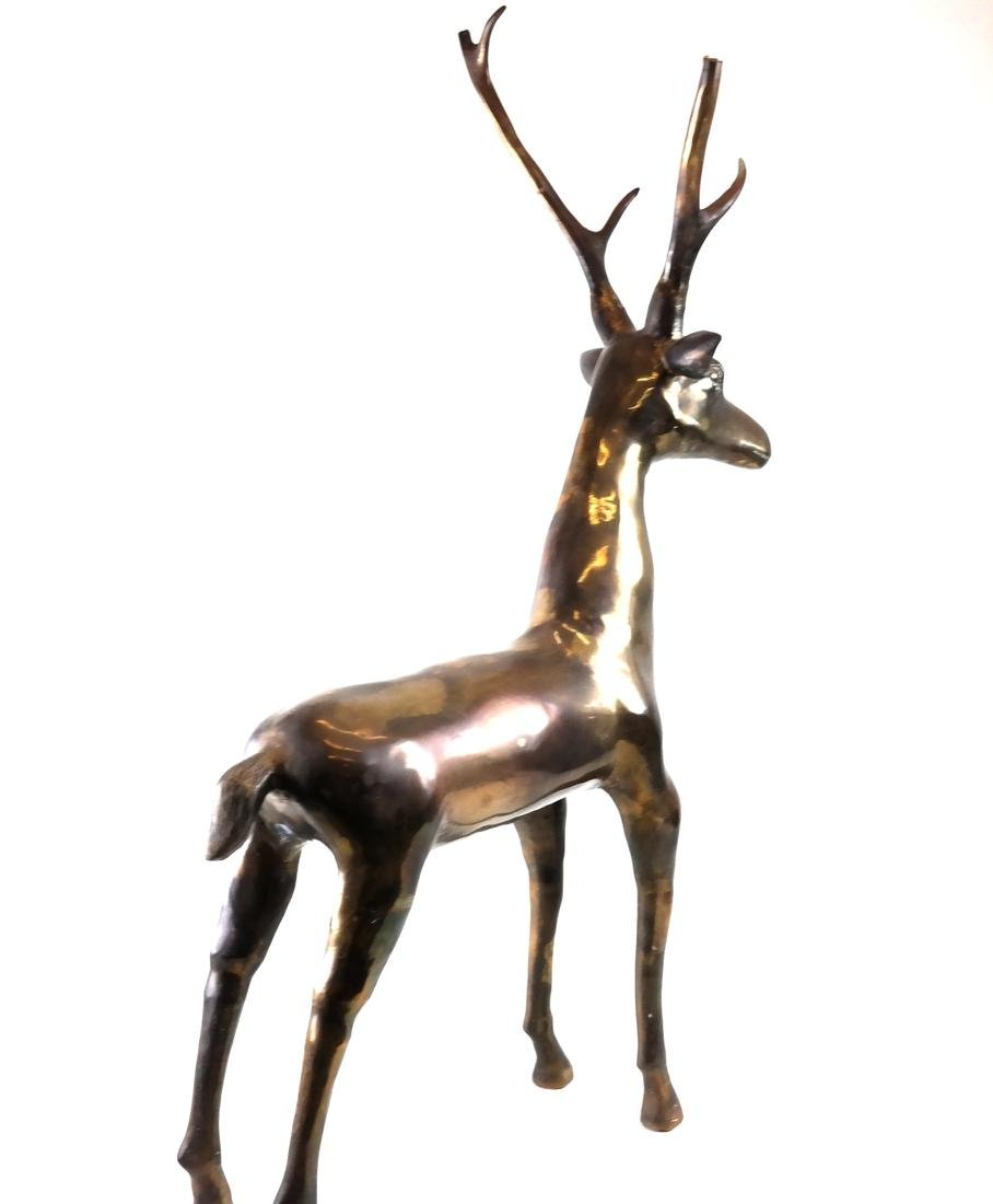 Brass Sculpture of a Buck - 6