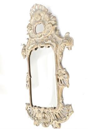 Ornate Continental Cartouche Mirror