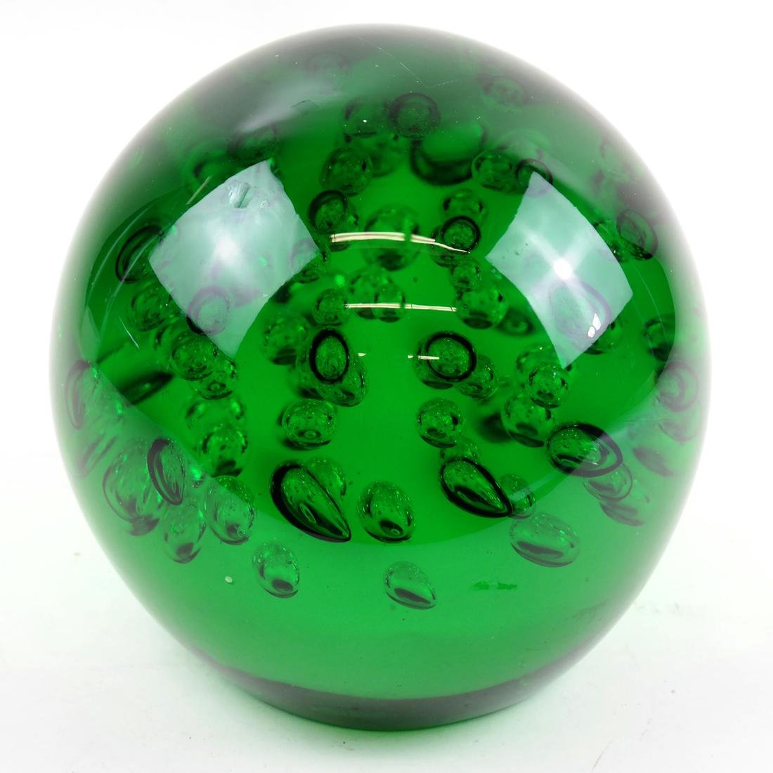 Large Green Studio Glass Paperweight