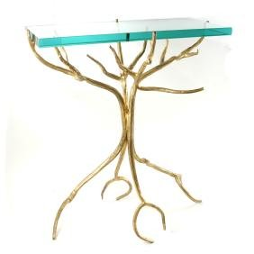 Contemporary Sculptural Branch-Form Bronze Stand