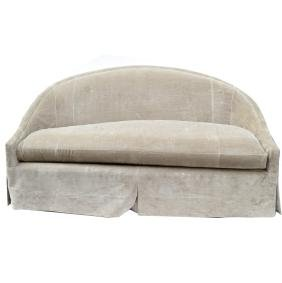 Lewis Mittman Upholstered Settee