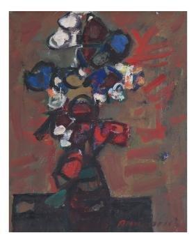 Zvi Mairovich, Still Life-Oil On Canvas