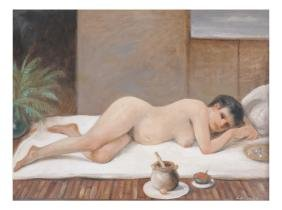 Matthew Lasinski, Reclining Female Nude