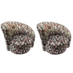 Pair of Modern Karpen Upholstered Chairs