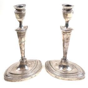 Pair Elizabeth II Sterling Candlesticks