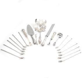Eighteen Various Silver Utensils