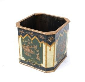 Chinoiserie Decorated Wood Planter