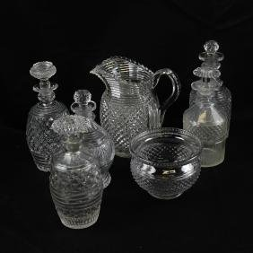 Seven Assorted Glass Objects