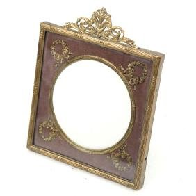 French Empire Bronze Dore Picture Frame