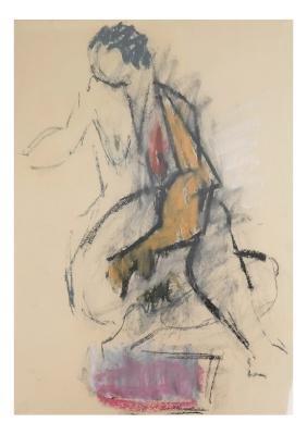 Hans Burkhardt, Seated Nude