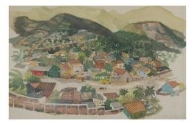 Joe Lasker, Acapulco Village Scene