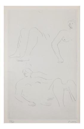 Henry Moore, Nude Female - Print
