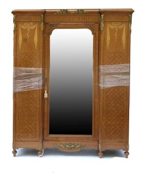 19th Century French Parquetry Armoire