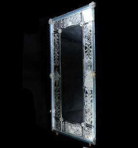 Venetian Glass Decorated Mirror