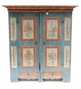 Swedish Hand-Painted Armoire