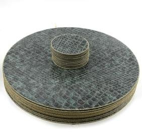 Faux Crocodile Placemats and Coasters