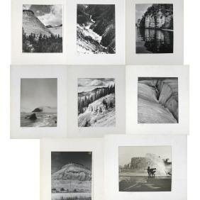 Eight Black & White Photographs