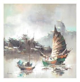 W.S. Chiang, Harbor Scene
