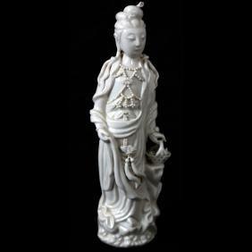Chinese Blanc de Chine Female Figure