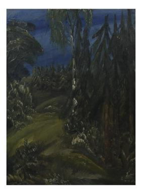 Woodland Scene, Framed Oil on Canvas