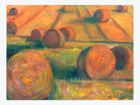 """Lucille Wassell, """"Hay Stacks"""""""