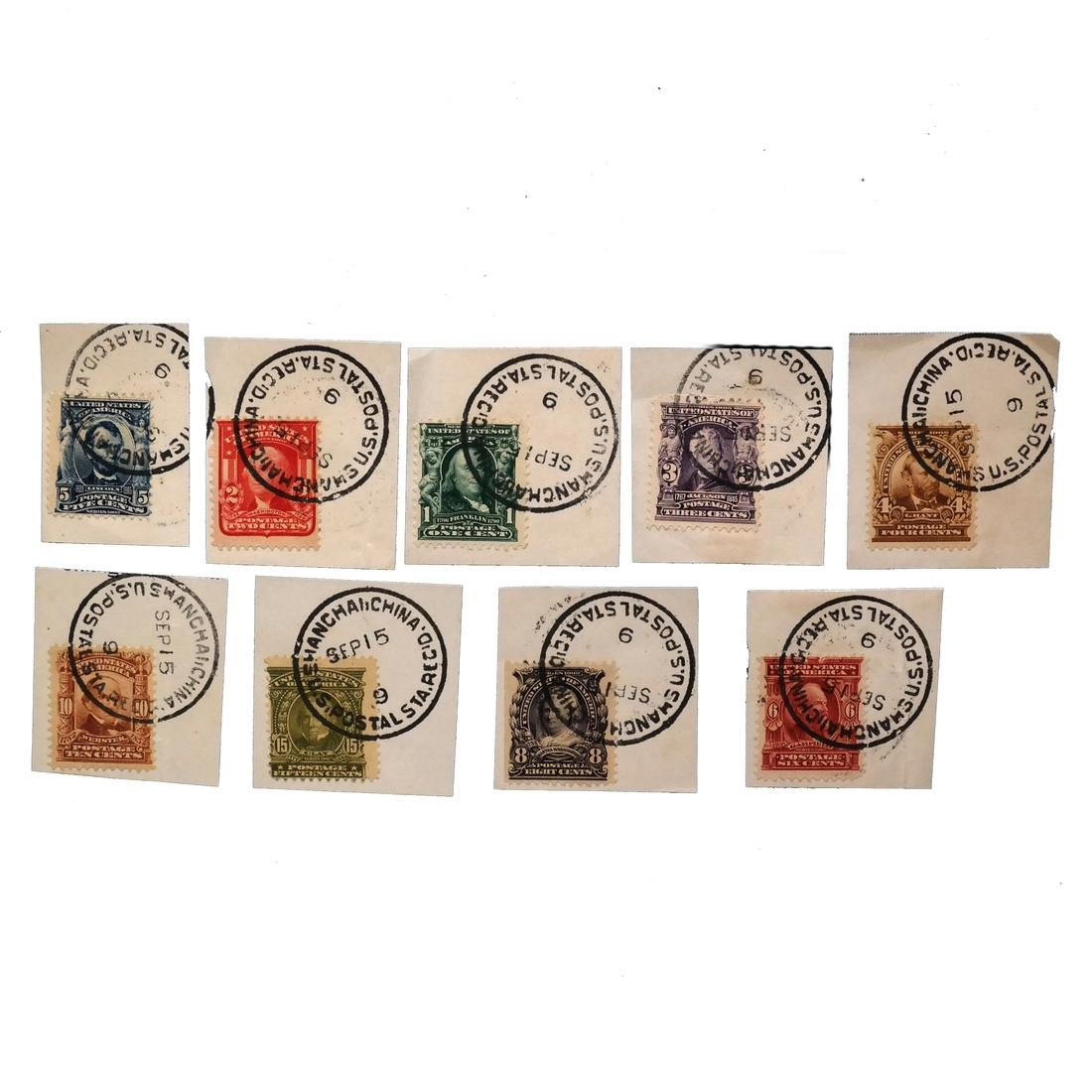 UNITED STATES 1902-1903 1¢-15¢ USED IN