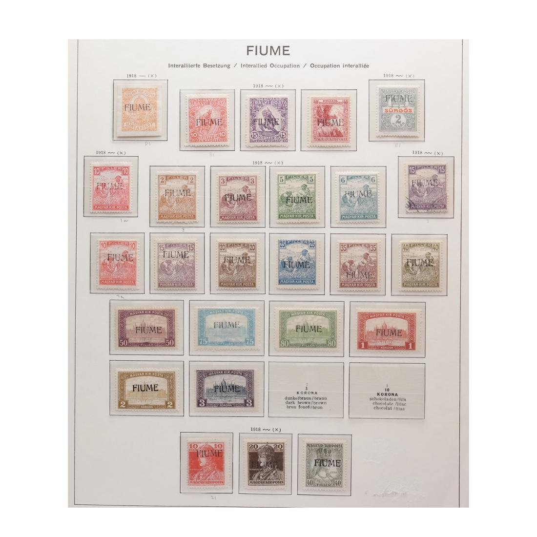 FIUME 1918-1924 COLLECTION MINT & USED