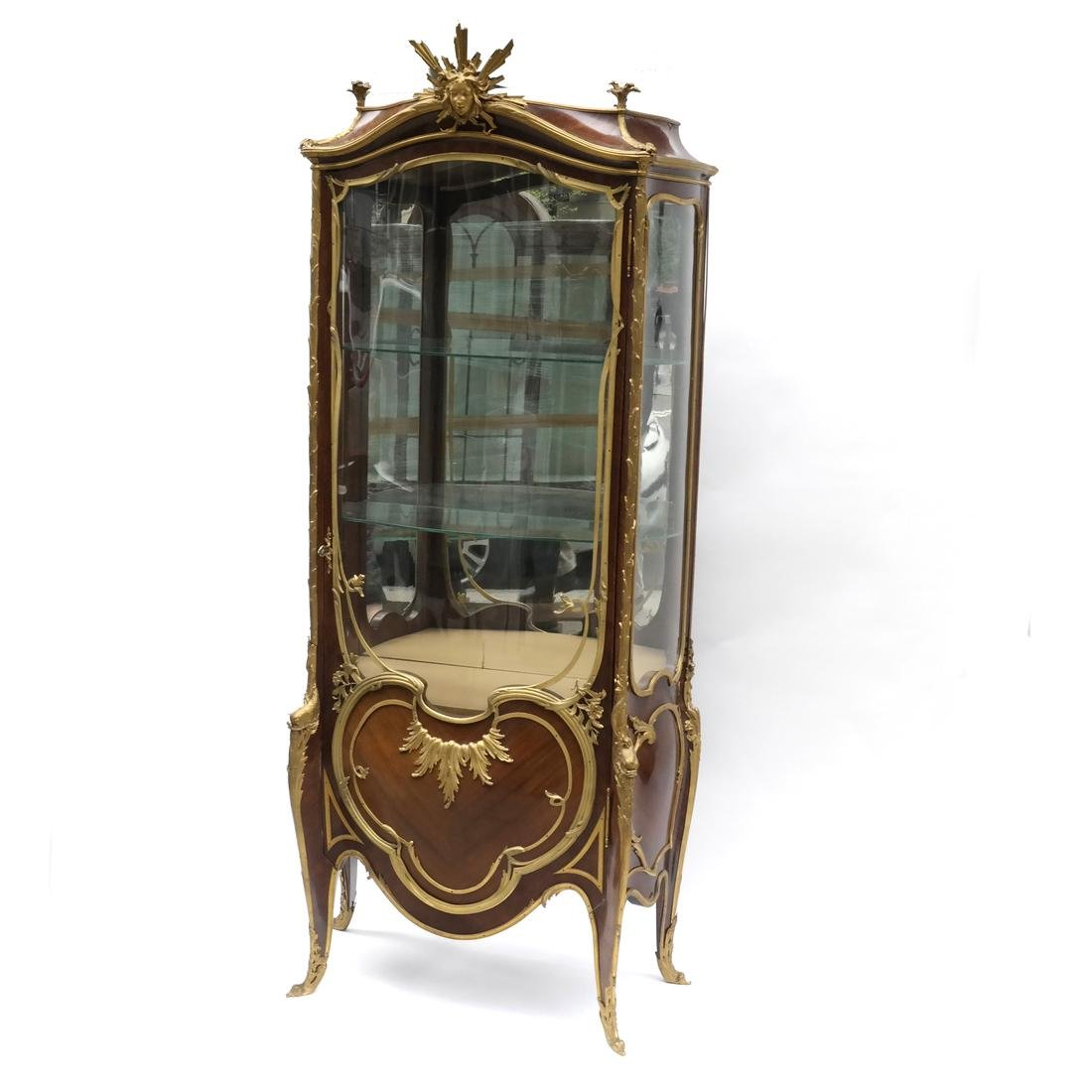 Linke French Gilt Bronze-Mounted Vitrine
