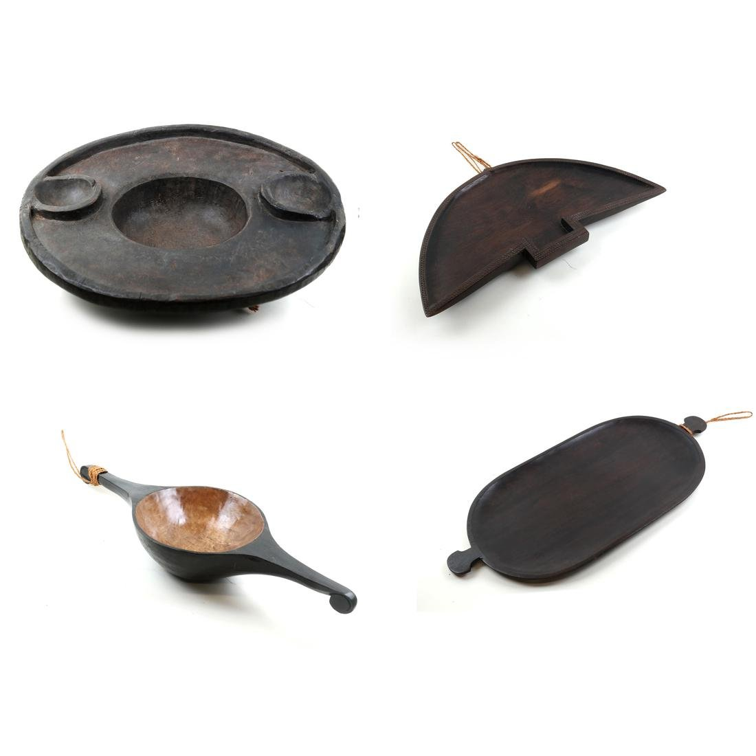Ceremonial Oceanic Carved Wood Vessels