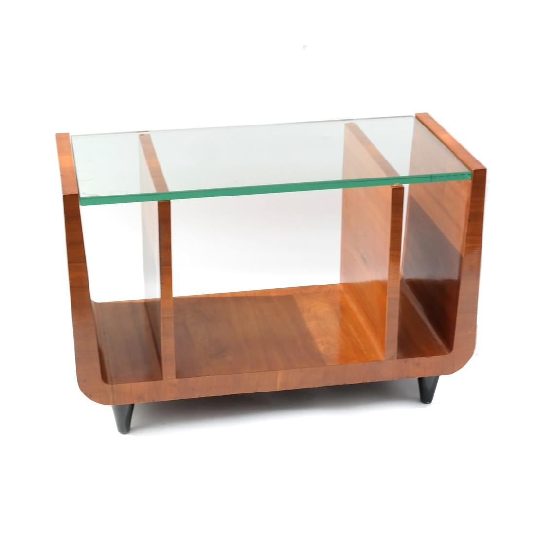 Art Deco Glass Top Side Table
