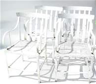Set of Four Modern Garden Chairs