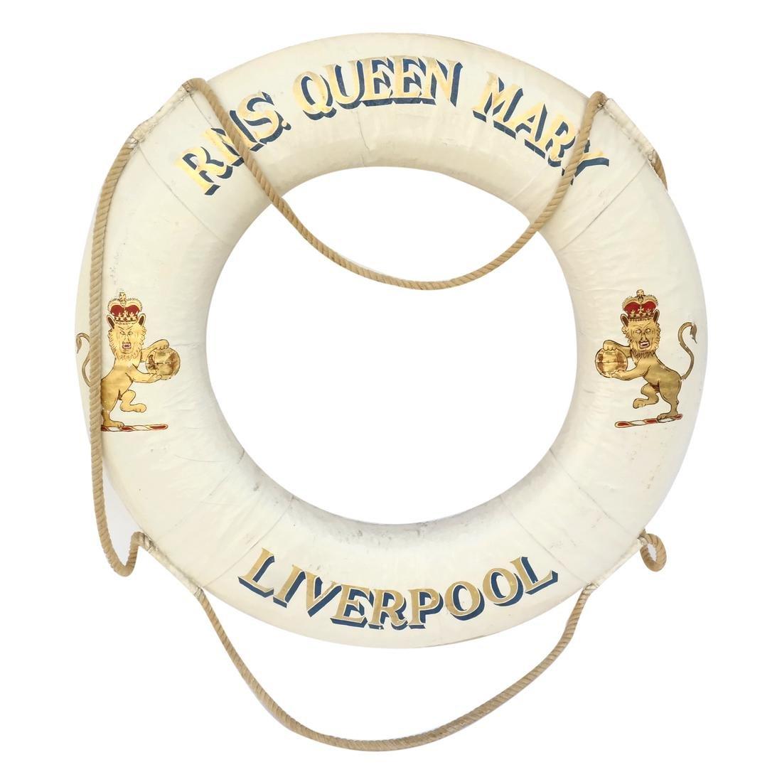 R.M.S. Queen Mary Original Ceremonial Life Ring