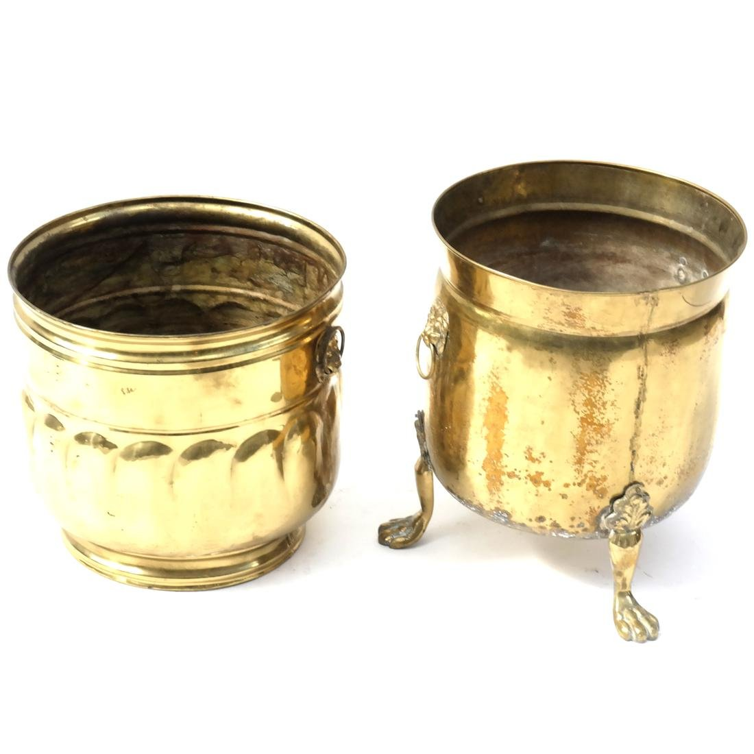 Group of Brass Planters