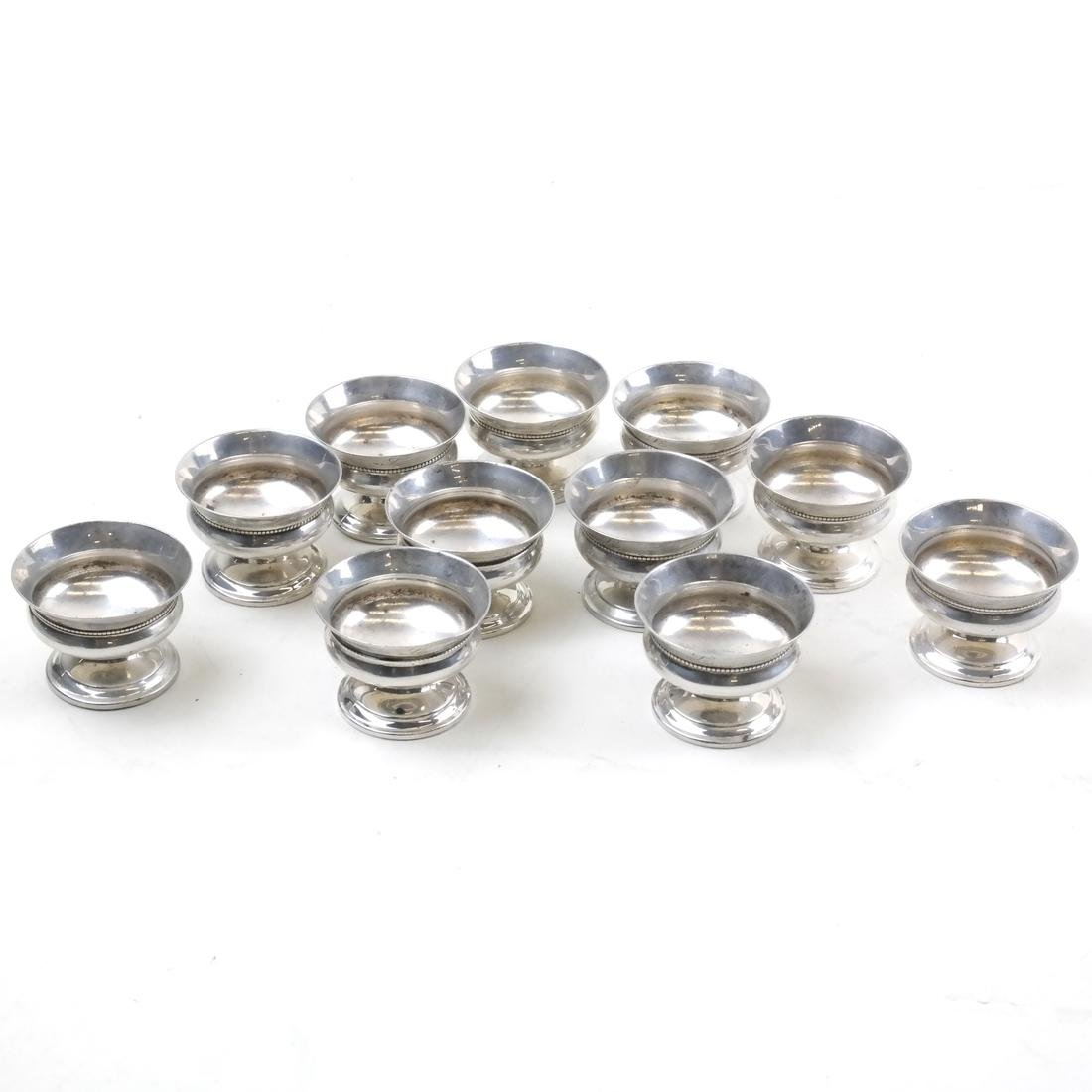 Set of 11 Whiting Mfg. Co. Sterling Individual Salts