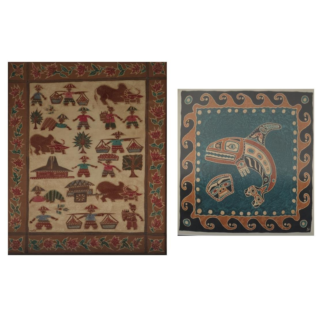 Two Various Tribal Framed Textiles