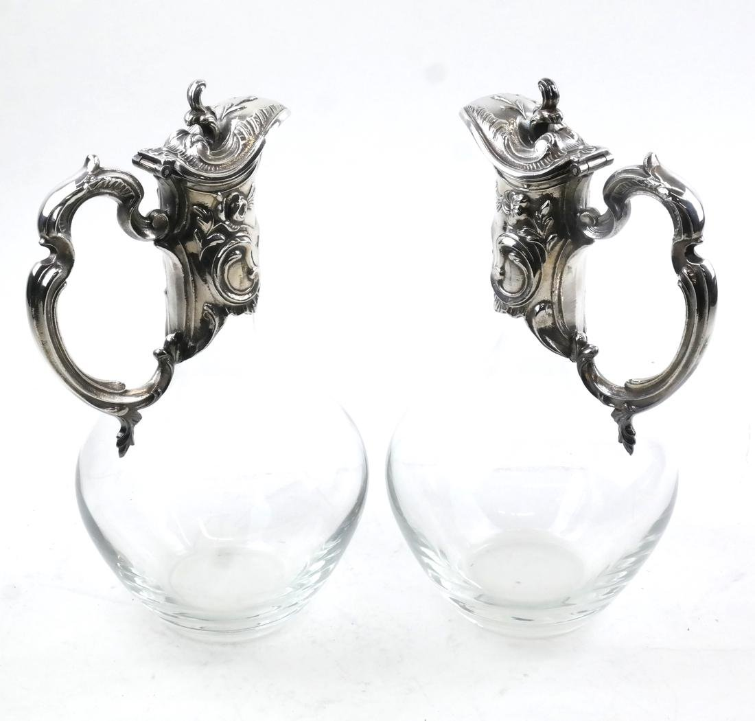 Pair of Crystal Mounted Ewers