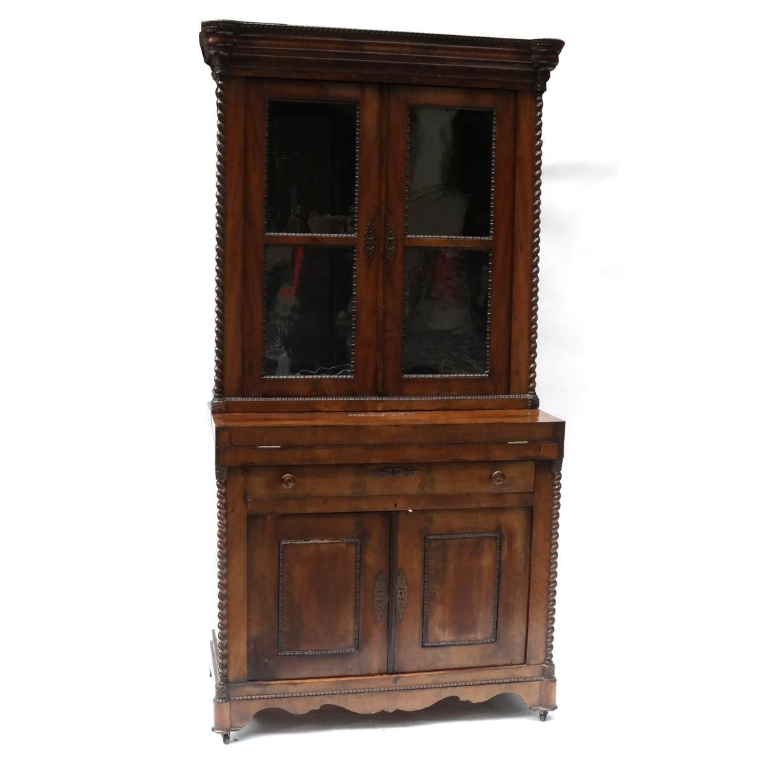 Antique Continental Two-Part Cabinet