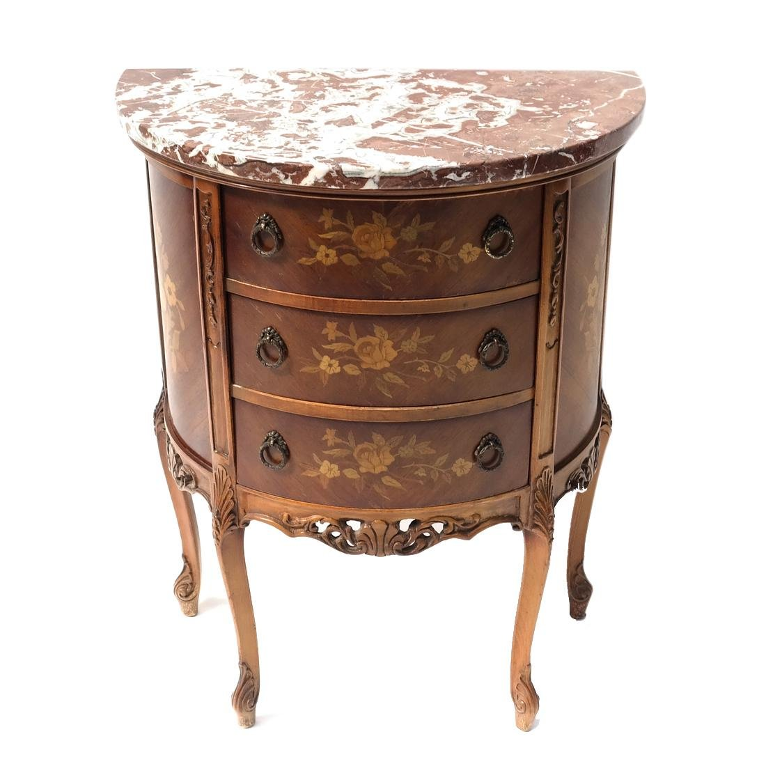 Louis XV-Style Marble Top Commode