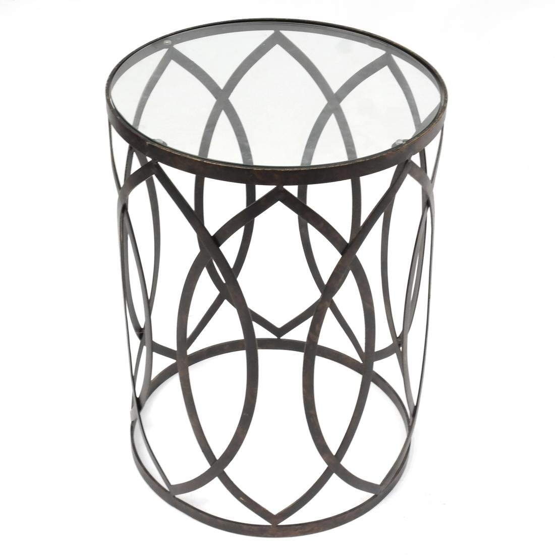 Iron and Glass Occasional Table