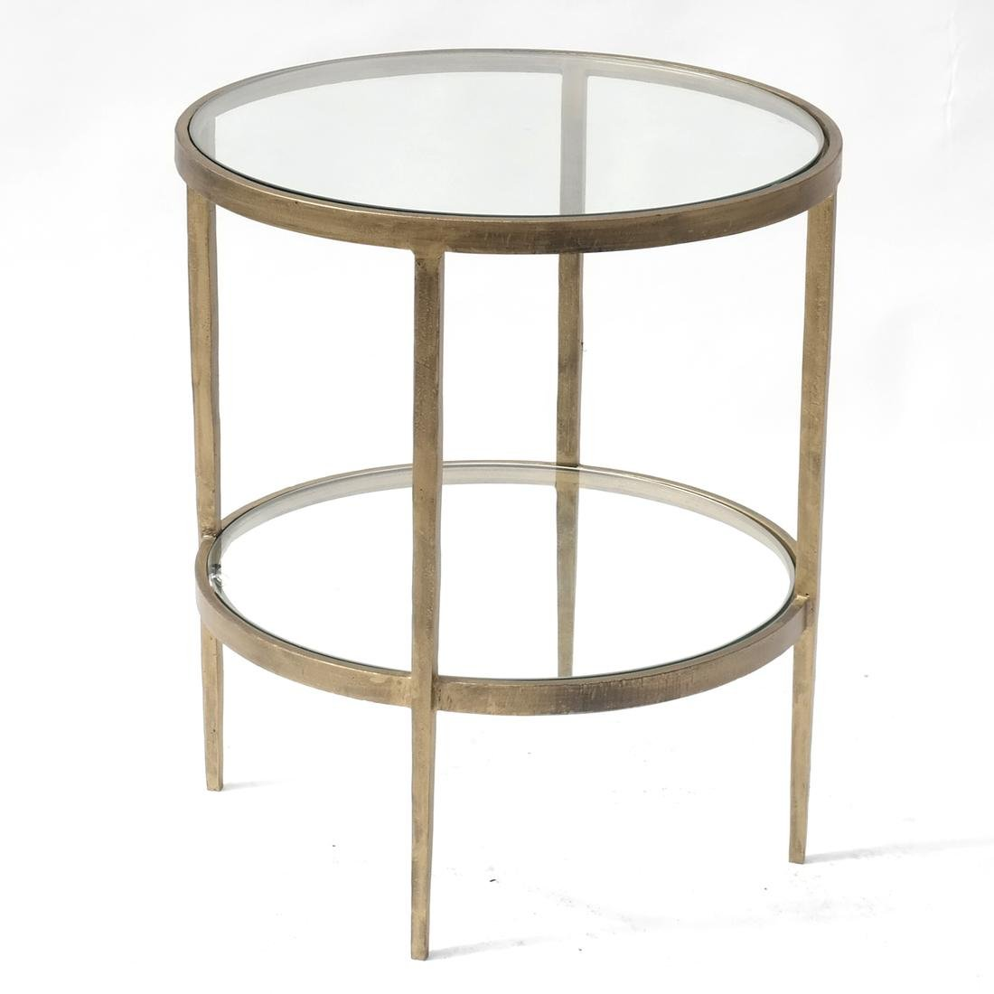Modern Two-Tier Round Table