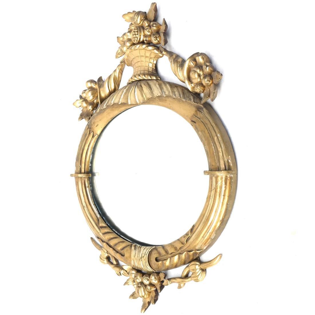 Antique Gilt Wood Mirror