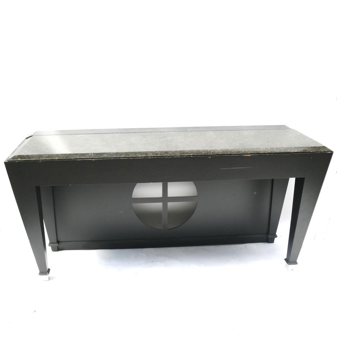 Contemporary Granite Console Table