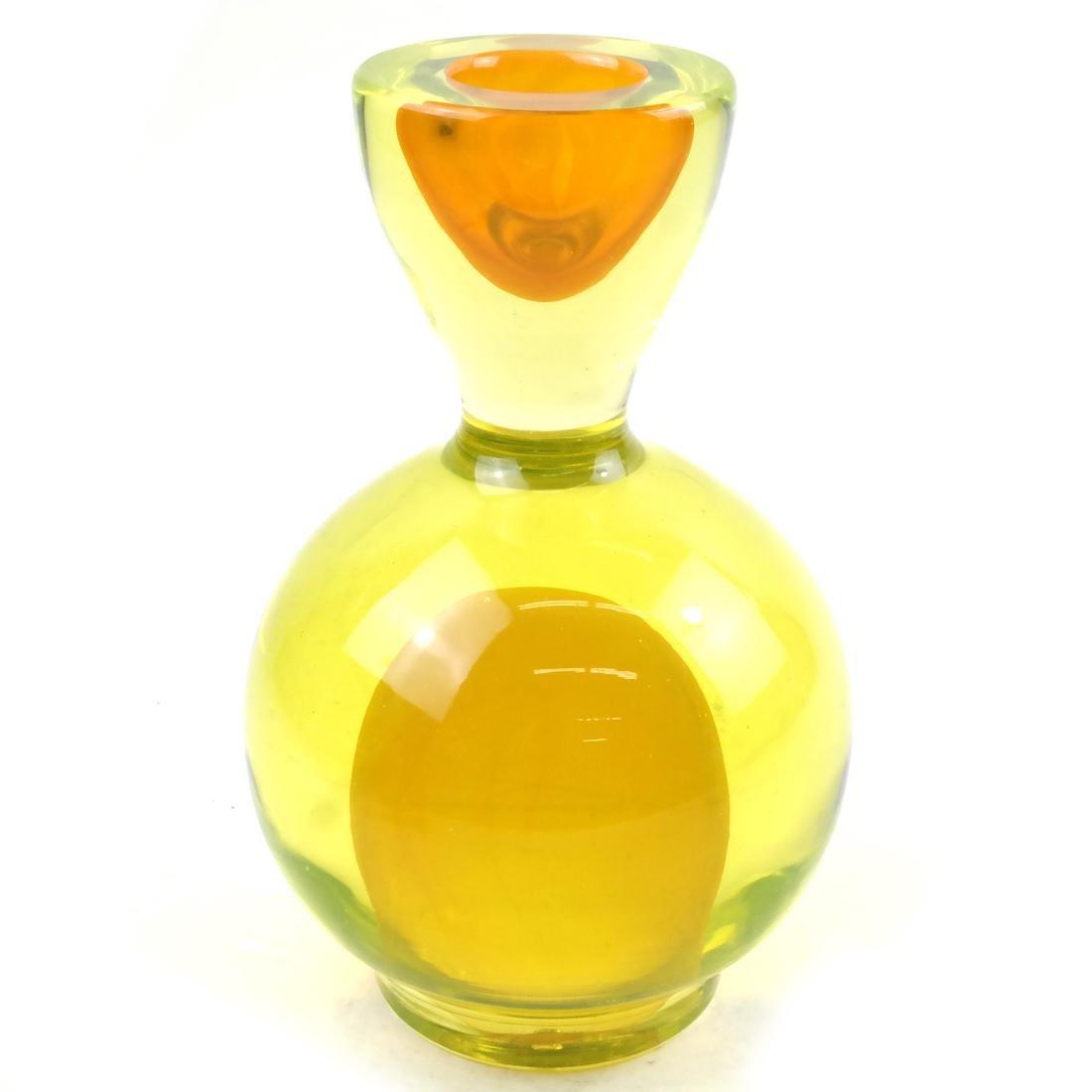 Modern Italian Sommerso Glass Sculpture