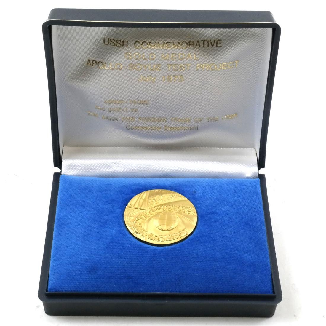 USSR Apollo-Soyuz Test Project Gold Medal July 1975