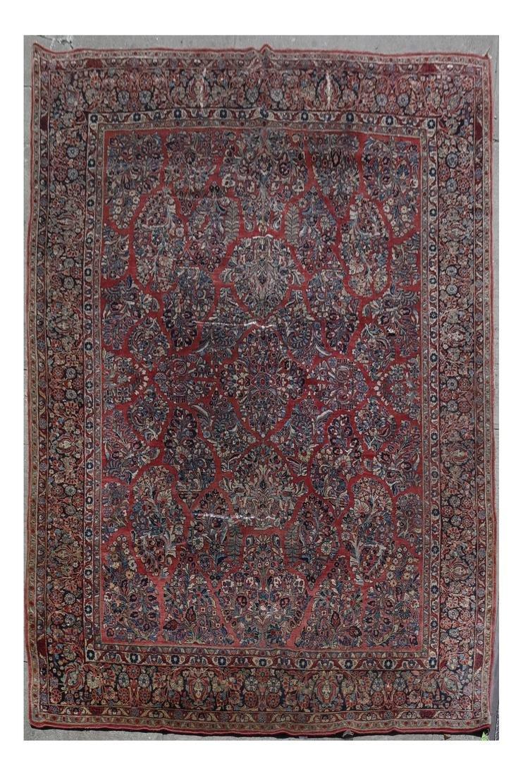 Wool Sarouk Rug