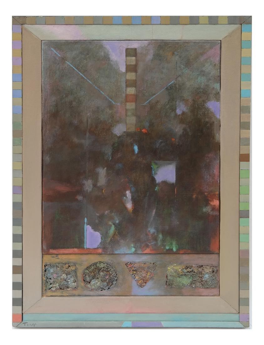 Wayne Toepp (American, 1964-) Abstract Oil on Canvas