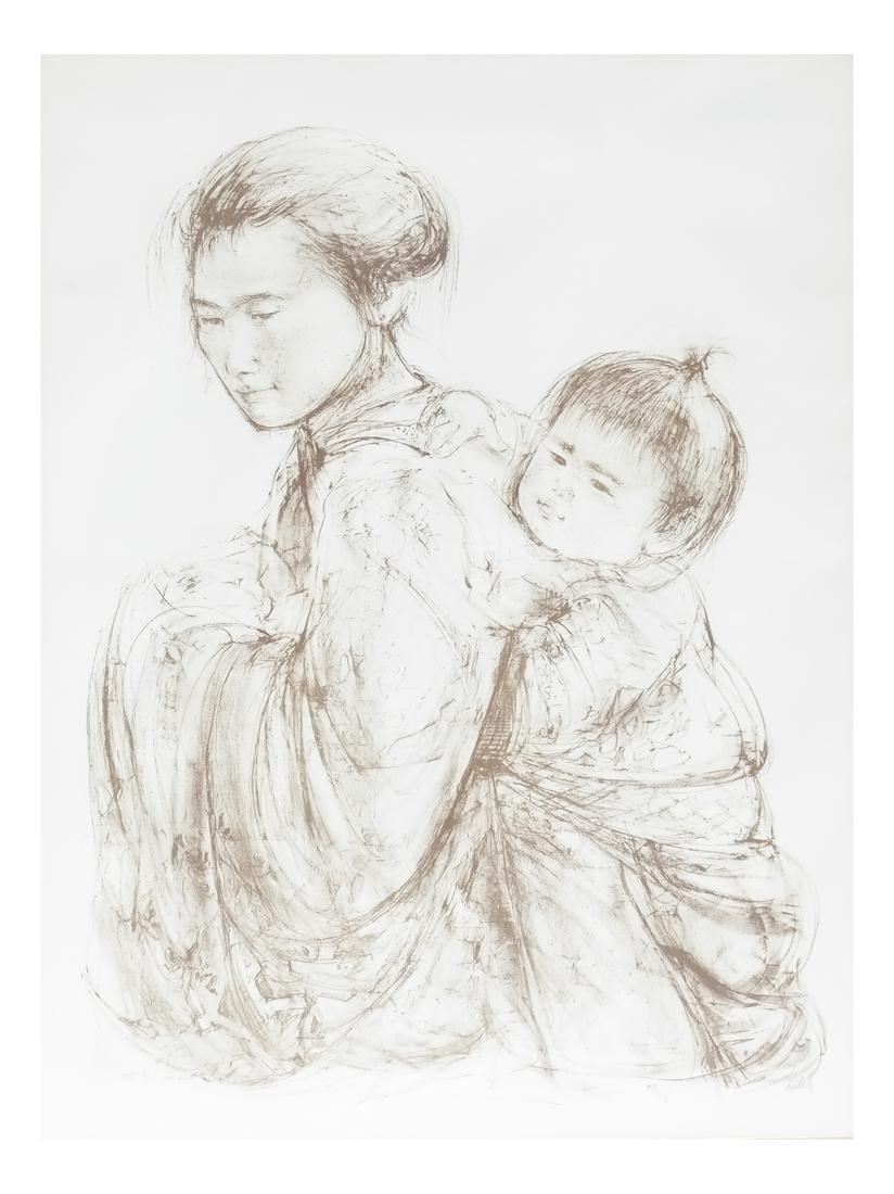 Edna Hibel, Japanese Mother & Child - Lithograph