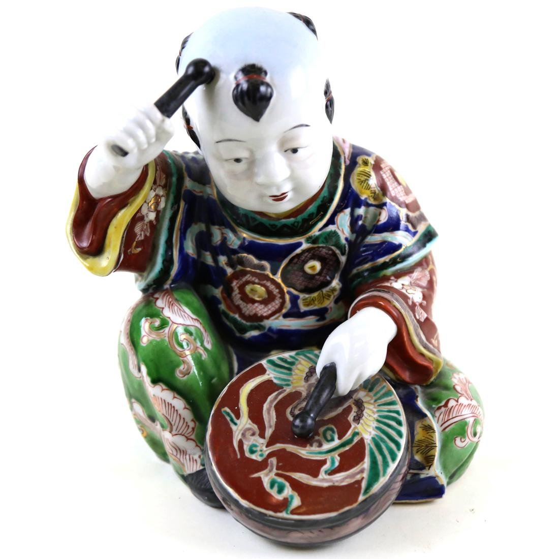 Modern Chinese Sculpture, Boy With Drum